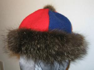 canadian cap blue red