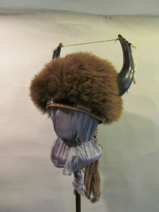 Traditional Bison with horns and beadwork