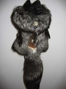 Silver fox cape back