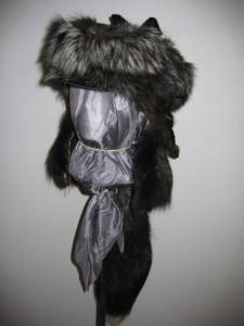 Silver fox cape front