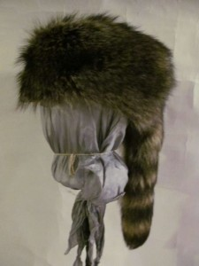 racoon trapper with tail